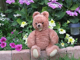 Antique Hermann Zotty Bear 1950s With Double Squeaker 14 Inch