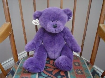 "Ganz Bumble Beary Purple Bear 13"" H3107L Heritage 1998"
