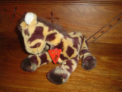 Dakin Vintage 1989 Giraffe Stuffed Plush with Tags