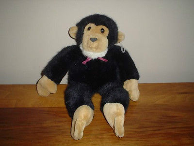 "Dakin 13"" Monkey Stuffed Plush Black & Tan 1992 Retired"