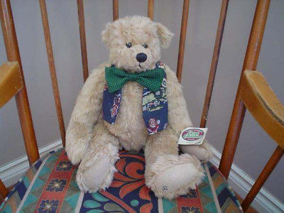 Ganz Cottage Collectibles 1996 Jointed Bear Edmund 16 inch Artist Christy Rave