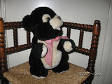 Black Teddy Bear 14 inch Sitting Tottenham London Uk