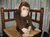 Old Antique Hermann German Monkey Mohair Fully Jointed 62 CM 24.5 Inch