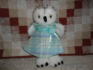 Build a Bear Canada OWL Jointed Handmade Plush