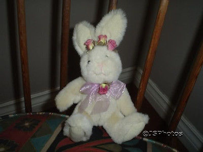 Russ Bunny Rabbit Plush L'il Bloomer Handmade 7in. 4604