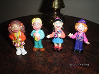 The Puzzle Place Set of 4 Character Rubber Dolls 1993 Children TV Show