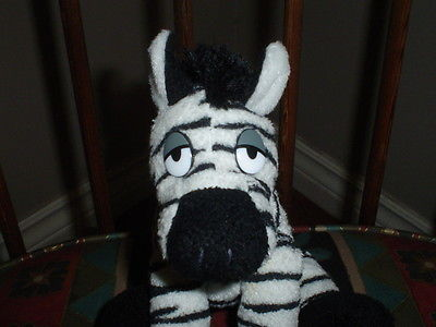 Golden Moon Hotel and Casino Zebra Jungle Jack Pit Stuffed Animal Plush 9 Inch