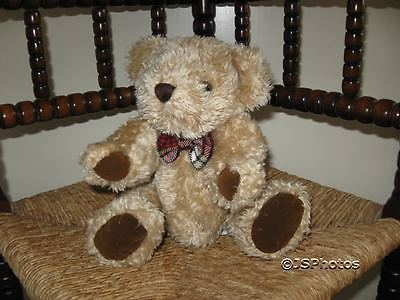 Express Gifts UK Jointed Teddy Bear with Plaid Bow