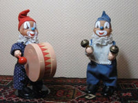 Set of 2 Old Vintage 1970s SONNI Germany Circus Clowns Moving Toys