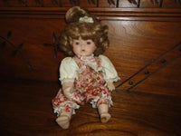 Porcelain Doll Musical Mechanical Baby Plays Brahms Lullaby Wind Up Moving Body