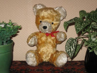 Antique 1930s Dutch Arthur Van Gelden Jointed Teddy Bear Golden Mohair 30cm