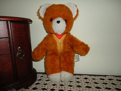 Antique UK Bear with Zippered Bear Suit Made in England