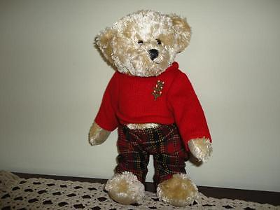Galerie Au Chocolat CHRISTMAS TEDDY BEAR Fully Jointed Knitted Xmas Tree Sweater