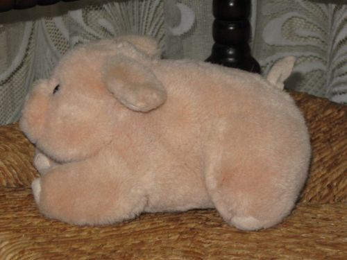 Vintage Dutch Soft Pig Plush Toy 19 CM