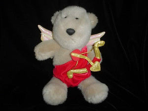 Starbucks 2001 Bearista Bear 13th Edition Cupid 10 Inch Valentines Day