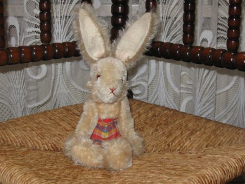 Old Antique German Schuco Mohair Bunny Rabbit