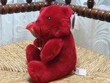 PMS UK Tender Moments Bright Red Teddy Bear w Rose All Tags Valentine