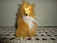 Vintage 1989 Barbie Furry Dog Pet Collie Turquoise Jointed Legs Head