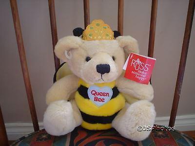 Russ Berrie 8 Inch Queen Bee Bear 37576 Tags