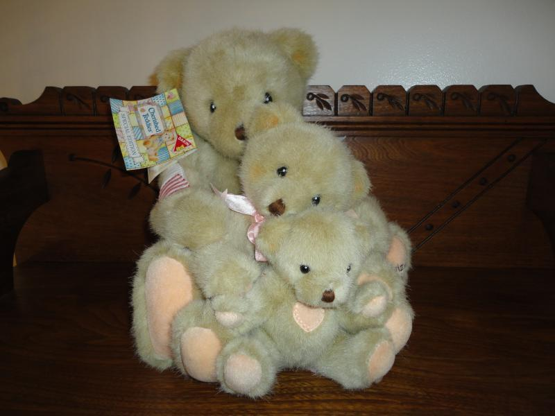 Dakin Enesco CHERISHED TEDDIES Special Edition 3 Bears Set Handcrafted 1994