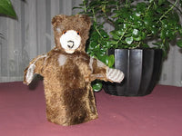 Antique Steiff Teddy Baby Hand Puppet 317 Mohair No ID