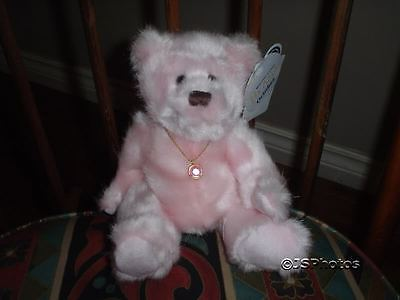 Applause Birthday Birthstone Baby Bears Danny October 2002 with Necklace New
