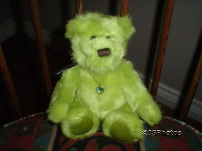 Applause Birthday Birthstone Baby Bears August ~ Peg ~ 2002 with Necklace 20363