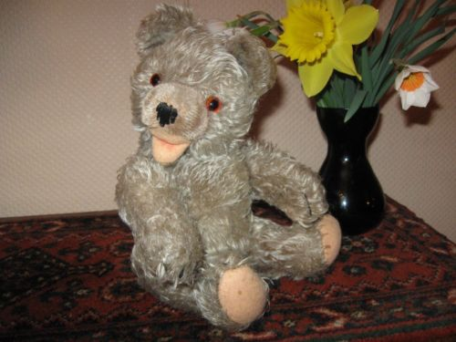 Old Antique Hermann Mohair Zotty Bear w Squeaker