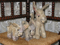 Antique Old Set of 3 Schuco Germany Donkeys
