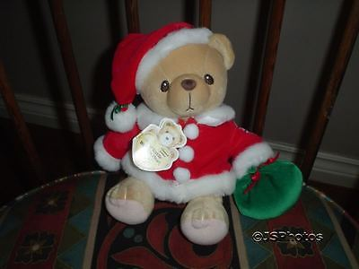 Cherished Teddies Santa Teddy Bear Plush Retired Enesco Teddy