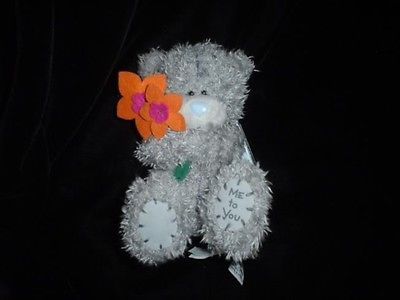 Russ Me To You Bear Special Friend Grey Plush Blue Nose