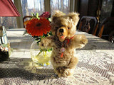 Antique Hermann German Zotty Bear Mohair 1960s Tag