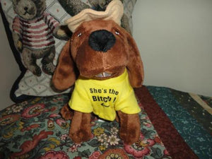 "Basset Hound Plush Singing "" Oh Susanna "" Country Dog Pet Qwerks Inc"