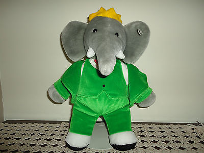 Gund Babar The Elephant Stuffed Plush 14 Inch Jadees Antique Bear