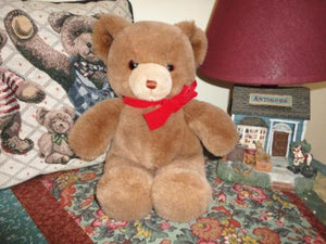 Gund Tender Teddy Brown Bear 13 inch 1983