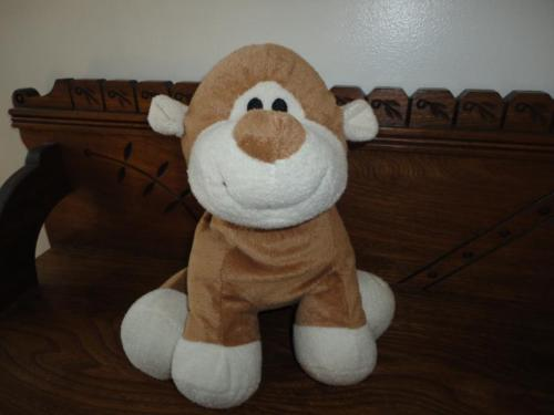 Zellers Hudson's Bay Company MONKEY Plush BABY TOY 12 inch sitting
