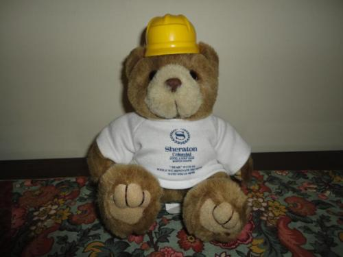 Sheraton Hotel & Golf Club Boston Construction BEAR Collectible