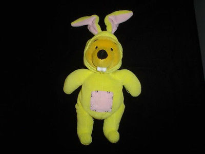 Winnie The Pooh Teddy Bear Removable Rabbit Outfit 9""