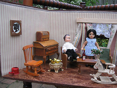 antique 1940s doll house german pine wood with accessories german 50 S Metal Doll Houses antique 1940s doll house german pine wood with accessories german ari dolls