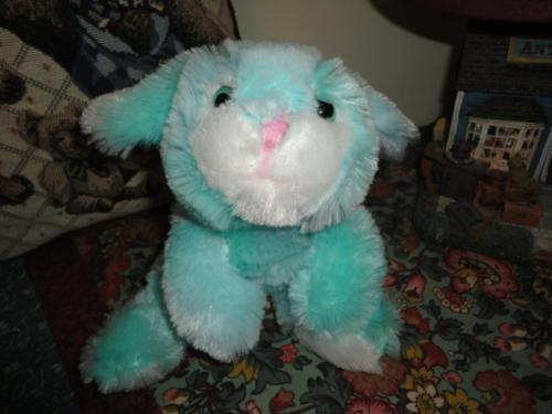 Turquoise Blue BUNNY RABBIT Super Soft Plush Toy 9 inches