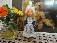 Dutch Holland Doll Authentic Costume & Wooden Clogs 7 inch