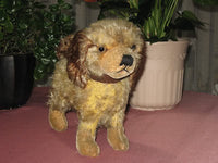 Antique DIEM German Mohair Standing Spaniel Dog 1920s RARE
