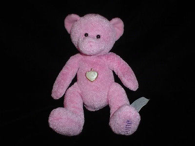 Birthstone Teddy Bear With Heart Pendant June 7 inch
