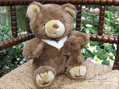 France Mother & Baby Bear Brown Plush