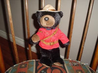 Stuffed Animal House RCMP Sergeant Blackbeary Bear