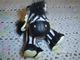 Zebra Glow In The Dark Collectible Hang Toy