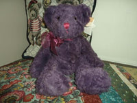 Russ Bears from Past BEARBERRY Purple Bear RETIRED Nr 4643 Handmade