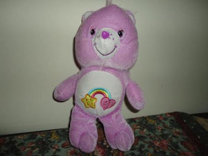 Care Bear Purple Velvet Fun Fair Star Rainbow Heart Stuffed Toy