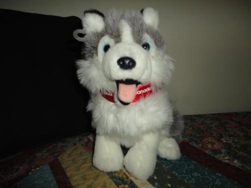 HUSKY PUP Stuffed Plush Canada Parkdale Novelty