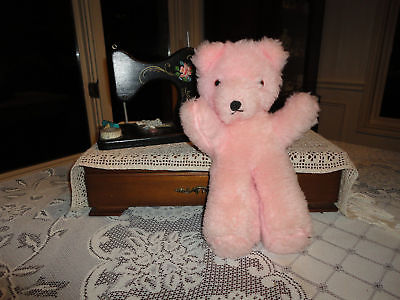 Antique Wendy Boston UK Bear Pink Plush 13 in. with Tag